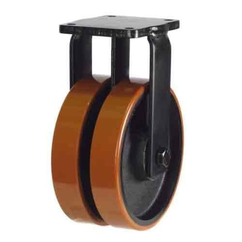 150mm Polyurethane On Cast Iron Core Fixed Castor
