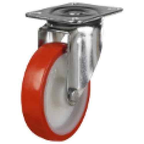 200mm Polyurethane On Nylon Centre Swivel Castor