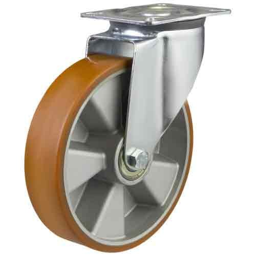 200mm Polyurethane On Aluminium Centre Swivel Castor