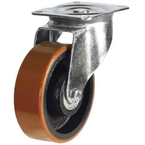 200mm Polyurethane On Cast Iron Core Swivel Castor