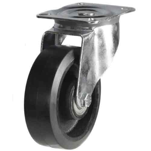 200mm Rubber On Cast Iron Core Swivel Castor