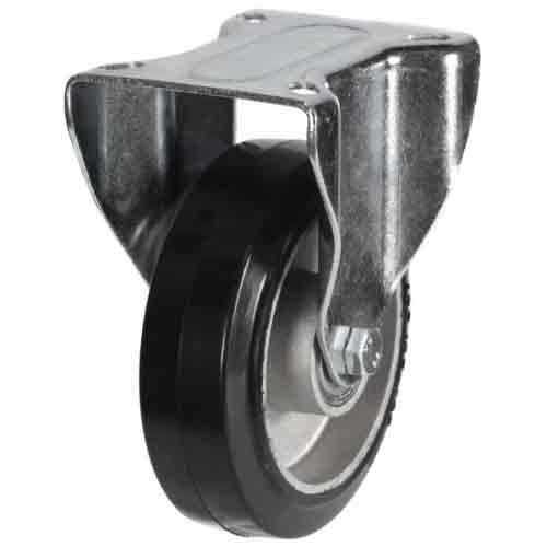 200mm Elastic Rubber On Aluminium Centre Fixed Castor