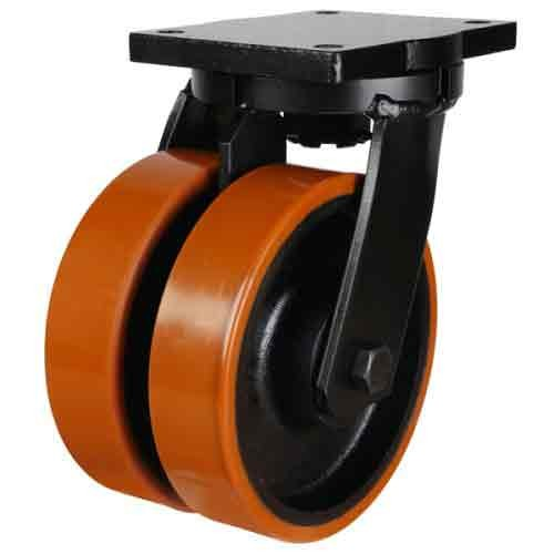 250mm Polyurethane On Cast Iron Core Swivel Castor