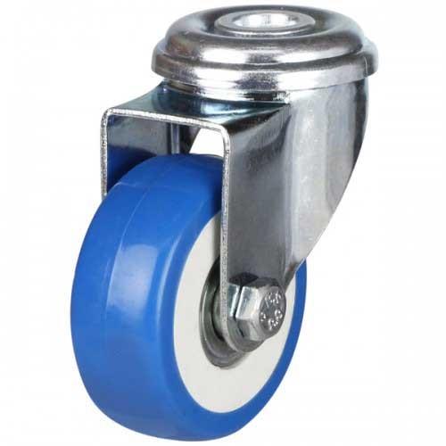 Light Duty Bolt Hole Castor - Polyurethane On Plastic Centre