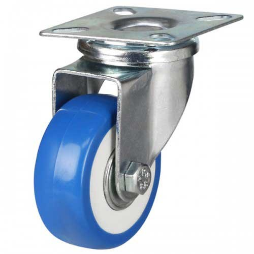 50mm Elasticated Polyurethane On Nylon Swivel Castor