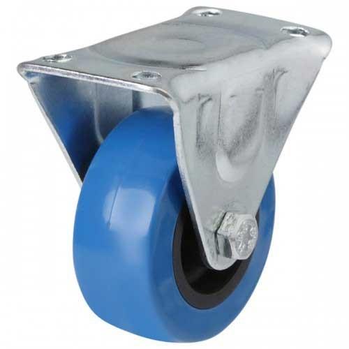 50mm Blue Polyurethane On Plastic Centre Fixed Castor