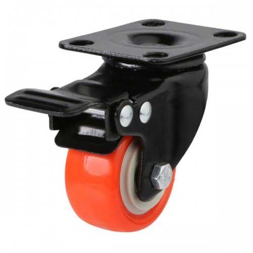 Polyurethane On Nylon Braked Castor - Light Duty Castor