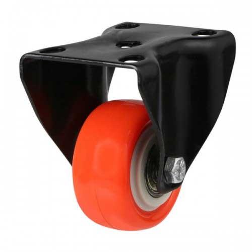 Polyurethane On Nylon Fixed Castor - Light Duty Castor