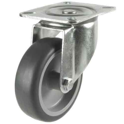 80mm Synthetic Tyre Non-Marking Swivel Castor