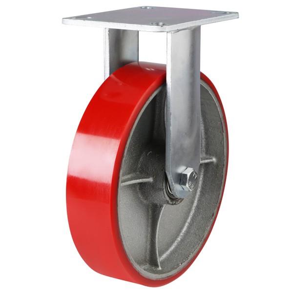 Heavy Duty Polyurethane On Cast Iron Centre Fixed Castor
