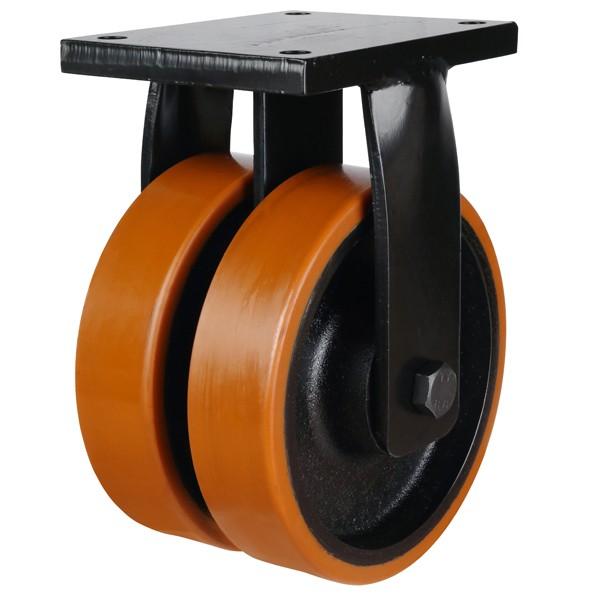 Extra Heavy Duty Polyurethane On Cast Iron Centre Fixed Castors