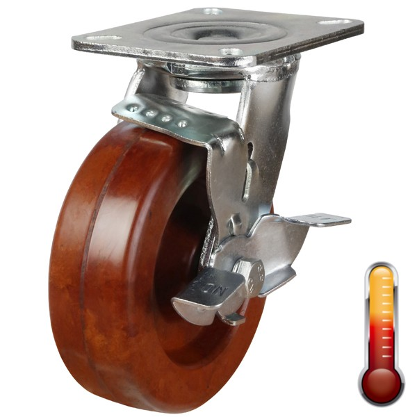 Heavy Duty High Temperature Resistant Braked Castor