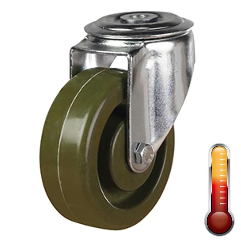 High Temperature Resistant Bolt Hole Castor