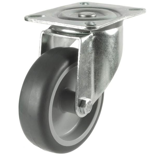 Medium Duty Synthetic Non-Marking Rubber Swivel Castor