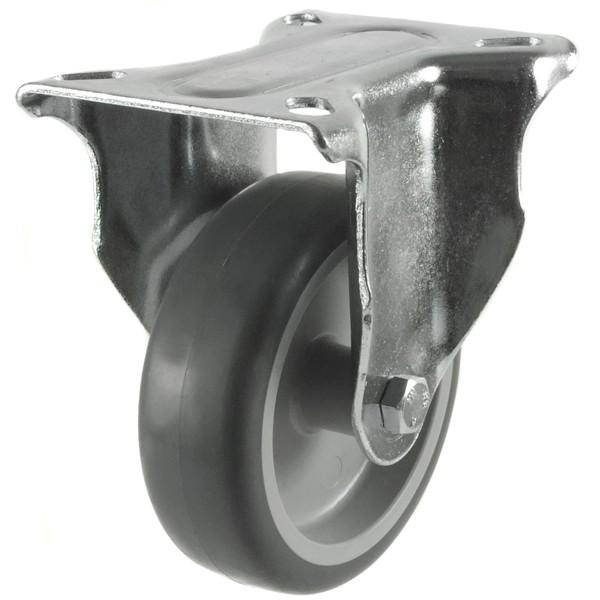 Medium Duty Non-Marking Rubber Fixed Castor
