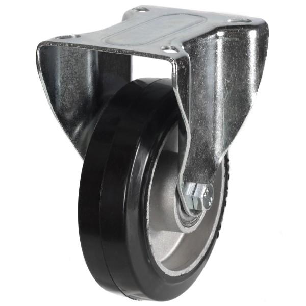 Medium Duty Elastic Rubber On Aluminium Centre Fixed Castor