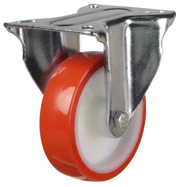 Medium Duty Polyurethane On Nylon Fixed Castor