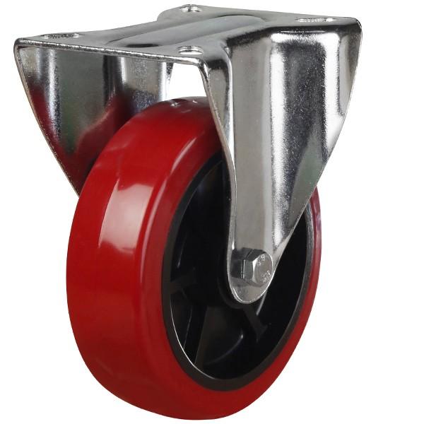 Medium Duty Polyurethane On Black Nylon Fixed Castor