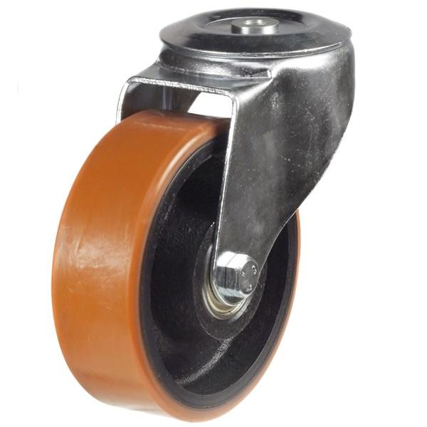Medium Duty Polyurethane On Nylon Centre Bolt Hole Castor