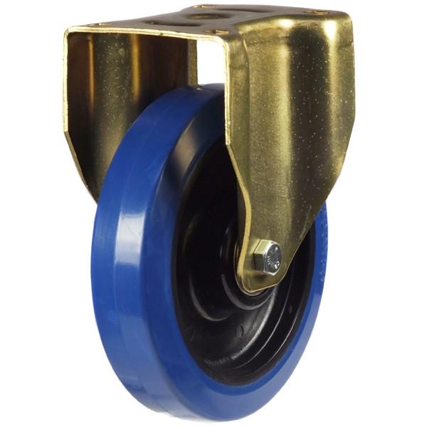 Elastic Non-Marking Rubber On Nylon Centre Heavy Duty Fixed Castor