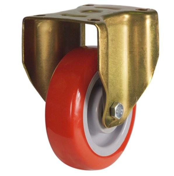Buy Heavy Duty Polyurethane On Nylon Centre Fixed Castor
