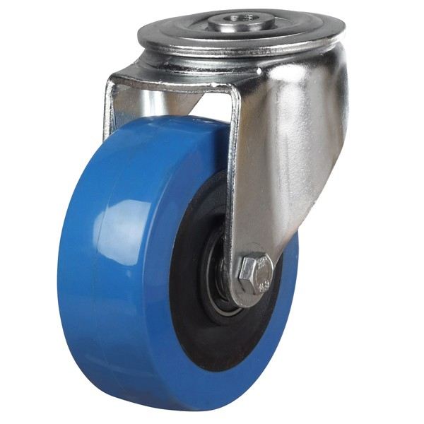 Elastic Polyurethane On Nylon Centre Bolt Hole Castor
