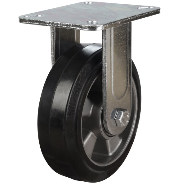 Heavy Duty Elastic Rubber On Aluminium Centre Fixed Castors
