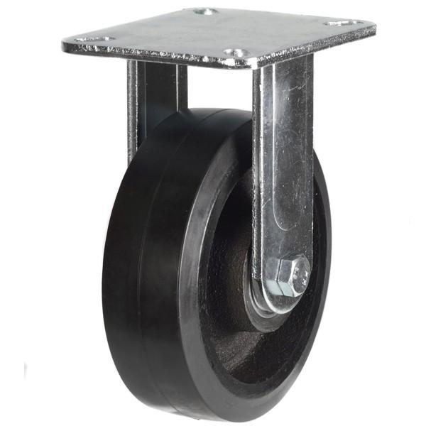 Heavy Duty Elastic Rubber On Cast Iron Centre Fixed Castors