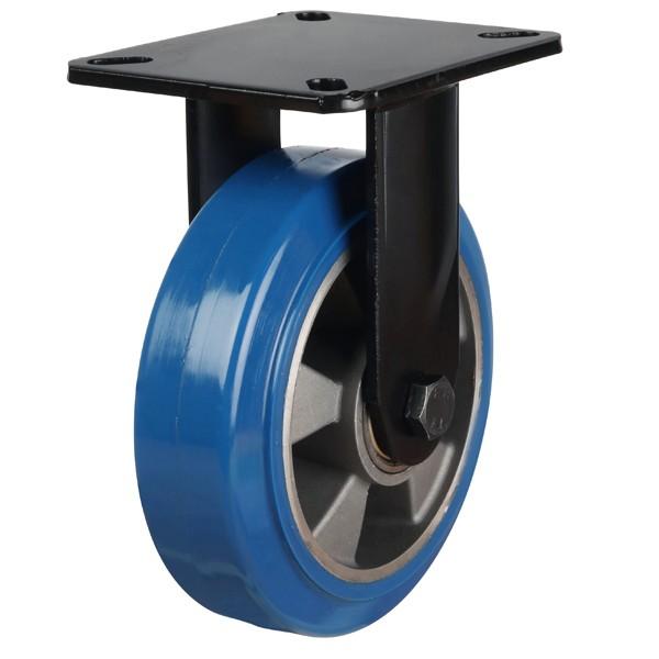 Heavy Duty Elastic Polyurethane On Aluminium Centre Fixed Castor