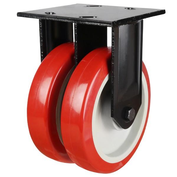 Heavy Duty Polyurethane On Nylon Centre Fixed Castor with Fabricated Bracket