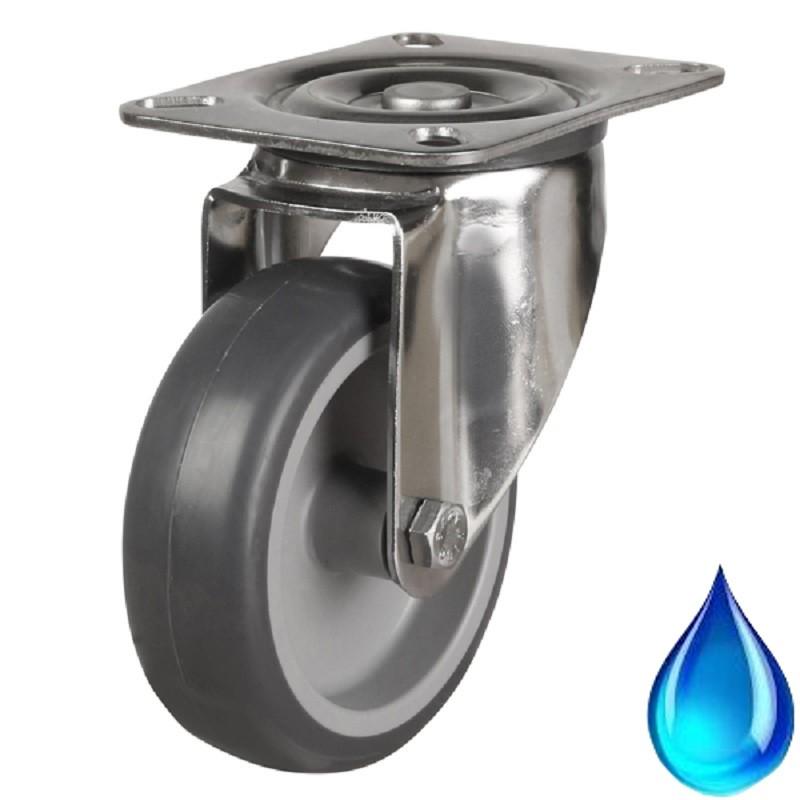 Medium Duty Stainless Steel Non-Marking Swivel Castor