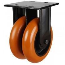 Heavy Duty Round Profile Polyurethane Fixed Castor