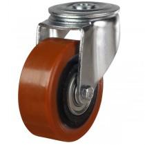 Heavy Duty Polyurethane On Cast Iron Centre Bolt Hole Castor