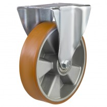 Medium Duty Polyurethane On Aluminium Centre Fixed Castors