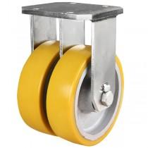 Ultra Heavy Duty Polyurethane On Cast Iron Centre Fixed Castor