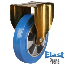 Heavy Duty Elastic Polyurethane On Aluminium Centre Fixed Castor