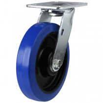 Heavy Duty Elastic Non-Marking Rubber On Nylon Centre Swivel Castor