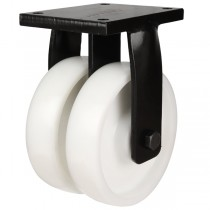 Extra Heavy Duty Twin Wheel Nylon Fixed Castors