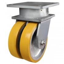 Ultra Heavy Duty Polyurethane On Cast Iron Centre Swivel Castor