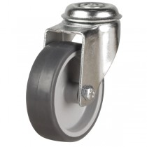 Rubber Wheel Bolt Hole Castor