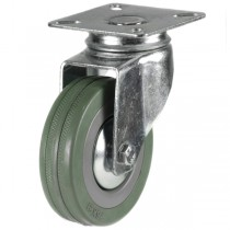 Light Duty Grey Non-Marking Rubber Swivel Castor