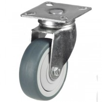Light Duty Non-Marking Grey Rubber Swivel Castor