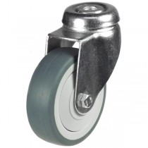 Synthetic Non-Marking Rubber Bolt Hole Castor