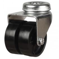Twin Wheel Nylon Bolt Hole Castor