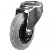 Medium Duty Non-Marking Rubber Bolt Hole Castor