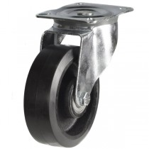 Medium Duty Rubber On Cast Iron Core Swivel Castor