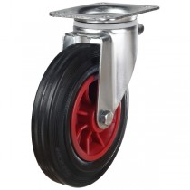 Rubber Tyre On Steel Disk Centre Waste Container Swivel Castor