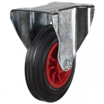 Rubber Tyre On Steel Disk Centre Waste Container Fixed Castor