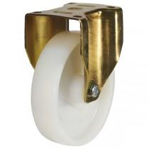 Medium to Heavy Duty Nylon Fixed Castor With Heavy Pressed Steel Bracket