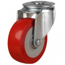 Buy Heavy Duty Polyurethane On Nylon Centre Bolt Hole Castor